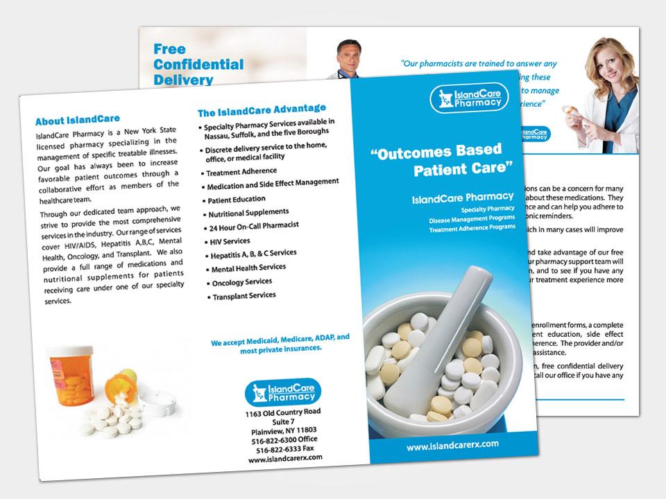 Falcon graphics design graphic design web design for Pharmacy brochure template